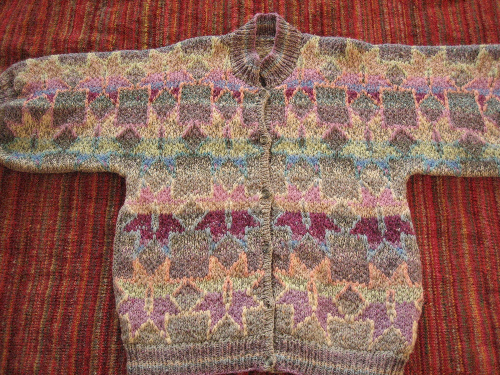 Kaffe Fassett Knitting Kits : Elsaxenia kaffe fassett outlined star jacket