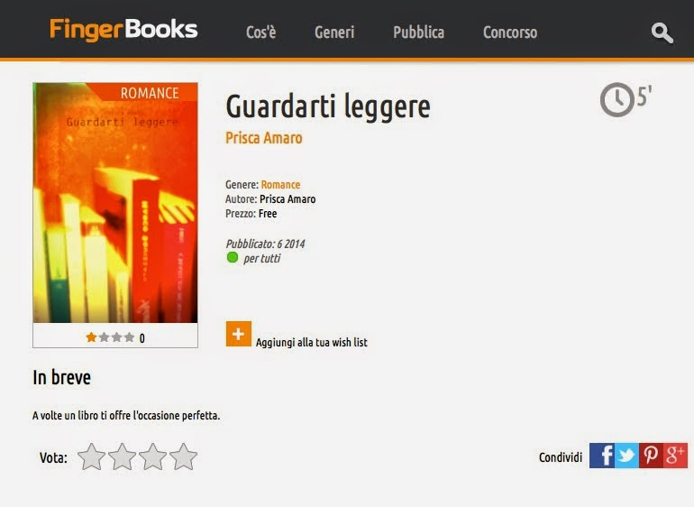 [Fingerbooks] Guardarti leggere