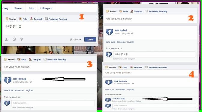 demikian Cara membuat Status komentar kosong di facebook . met happyi