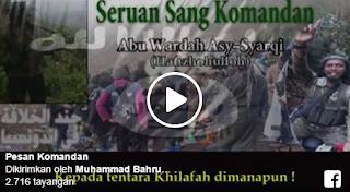 Video Ancaman Teroris Santoso Pada Istana Dan Polda Metro Jaya Di Facebook