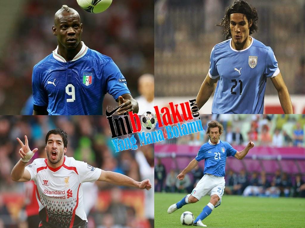Pemain Yang Berkemungkinan Mencetak Gol Di Laga Italy Vs Uruguay