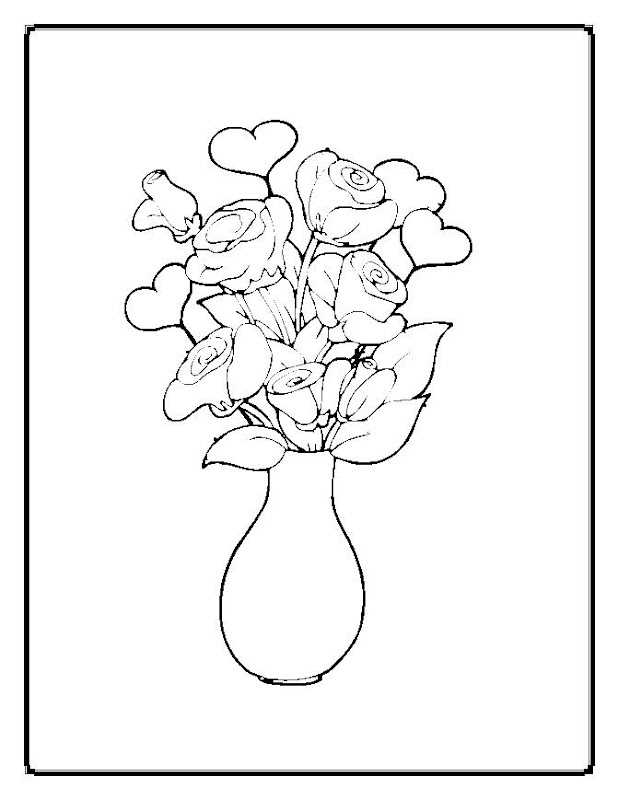 hd flower coloring pages to print download hq flower coloring pages  title=