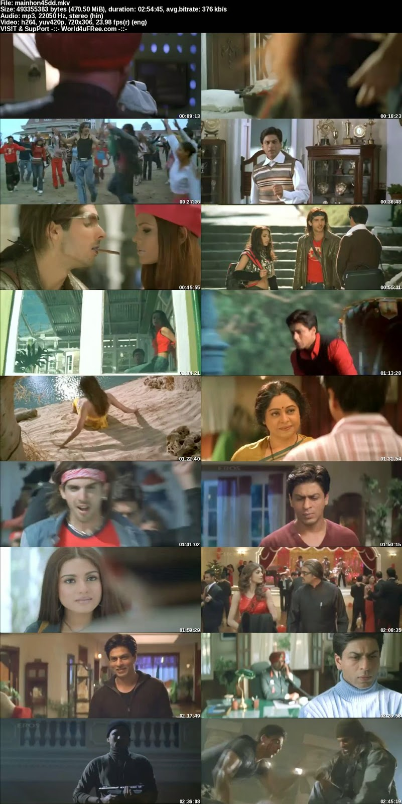 mainhon45dd s Main Hoon Na (2004) Movie Download In 300MB , 3GP at moviesmella.com