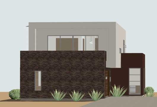 Planos y fachadas de casa habitaci n estilo minimalista for Fachadas de casas minimalistas de 3 pisos