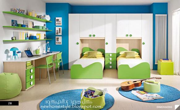 كل جديد x الديكور: غرف نوم اطفال حديثه بكل الالوان Modern kids