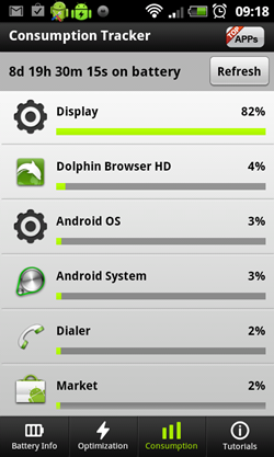 Aplicativo para Android Easy Battery Saver - 250x417