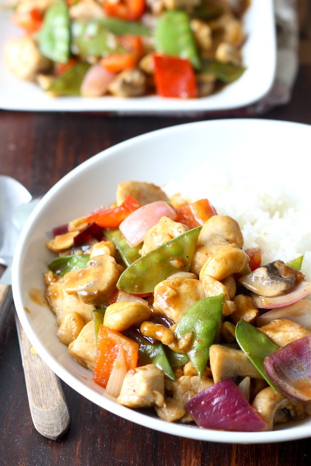 Cashew Chicken in Sichuan Sauce by SeasonWithSpice.com