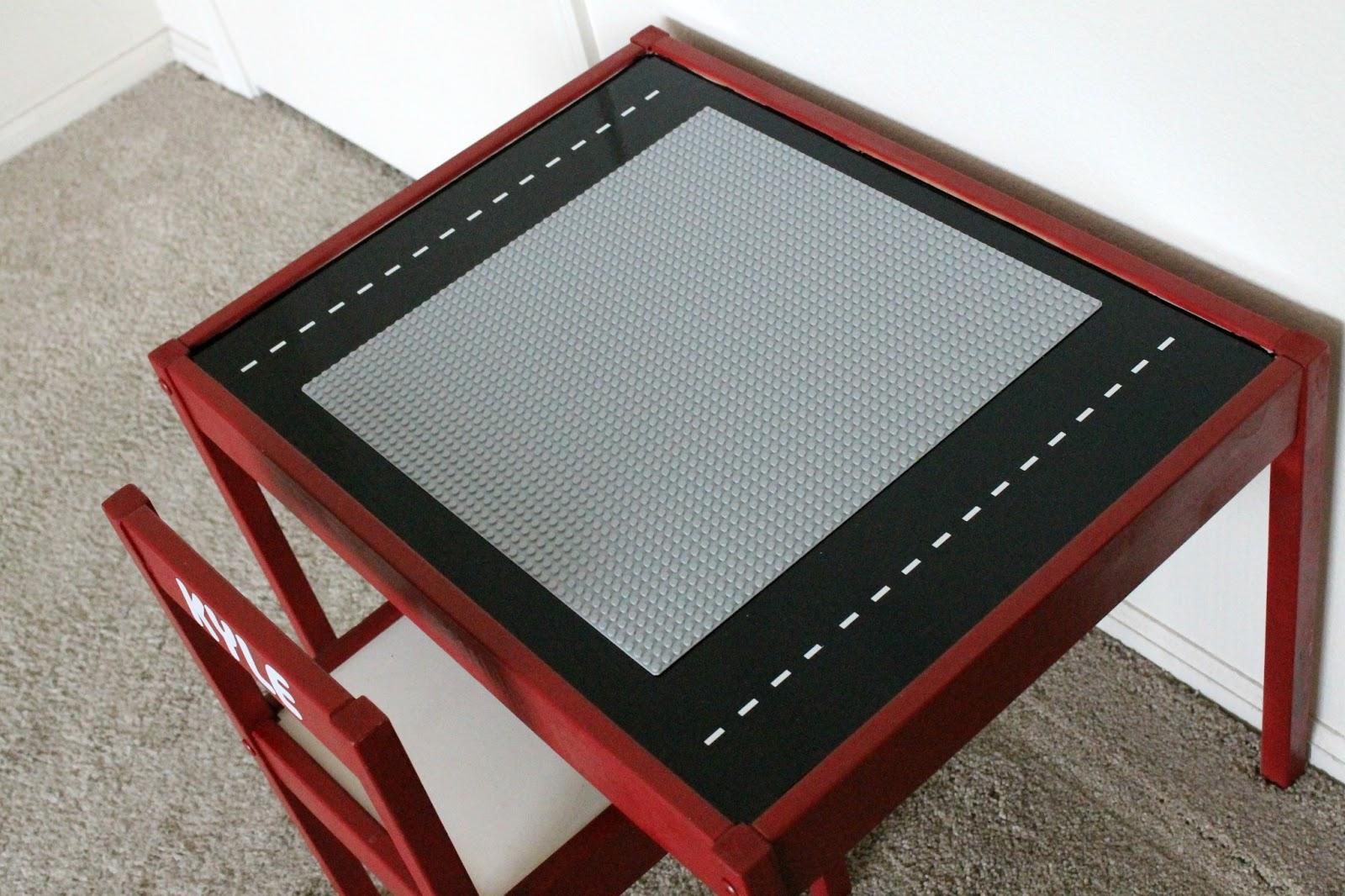 Lego Table From An Ikea Latt Table Occasionally Crafty