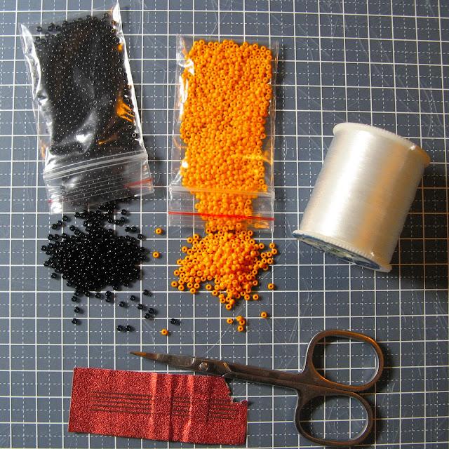 материалы для Георгиевской ленты из бисера