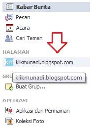 Sidebar Kiri Facebook