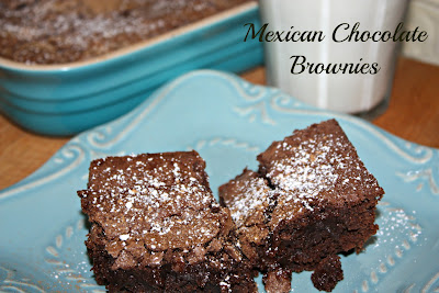 Mexican Chocolate Brownies - Photo Courtesy of Aly ~ Cooking in Stilettos