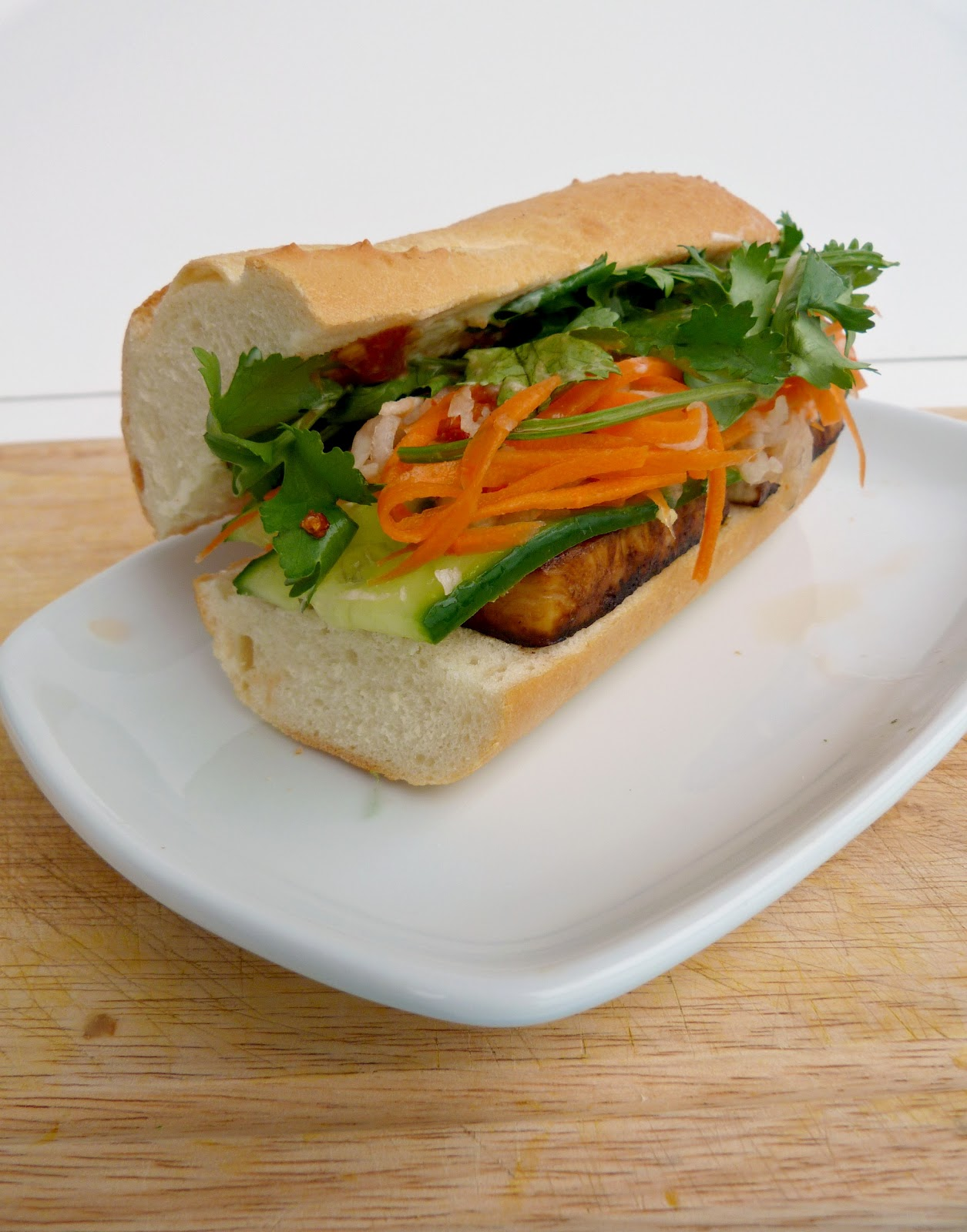 tofu banh mi adapted from vegetarian times per sandwich