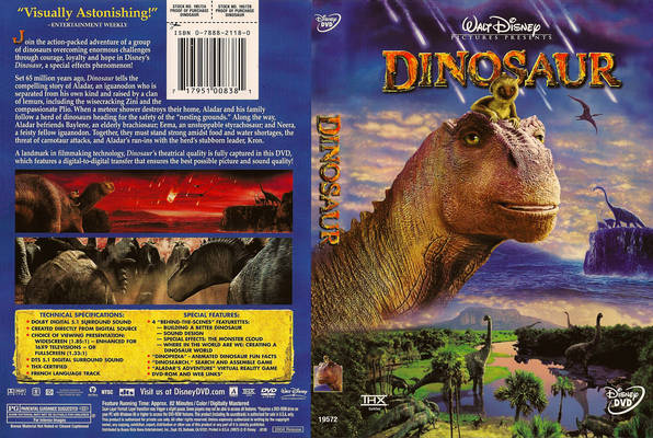 DVD cover Dinosaur 2000 animatedfilmreviews.blogspot.com