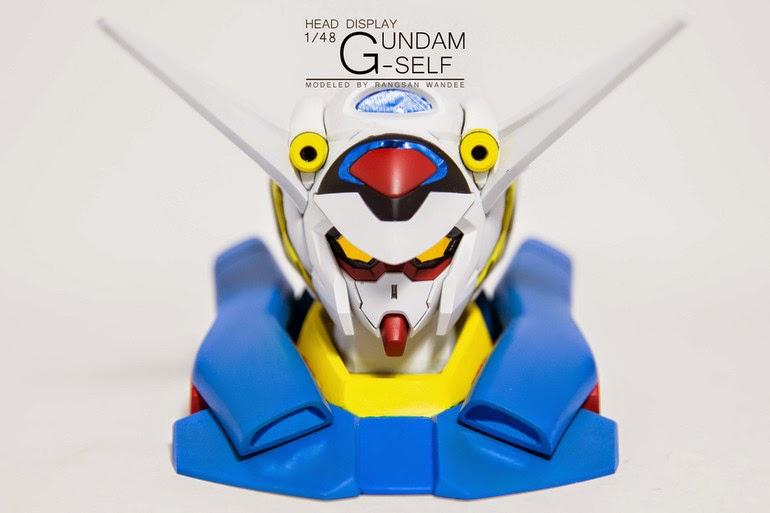 gundam head display g-self