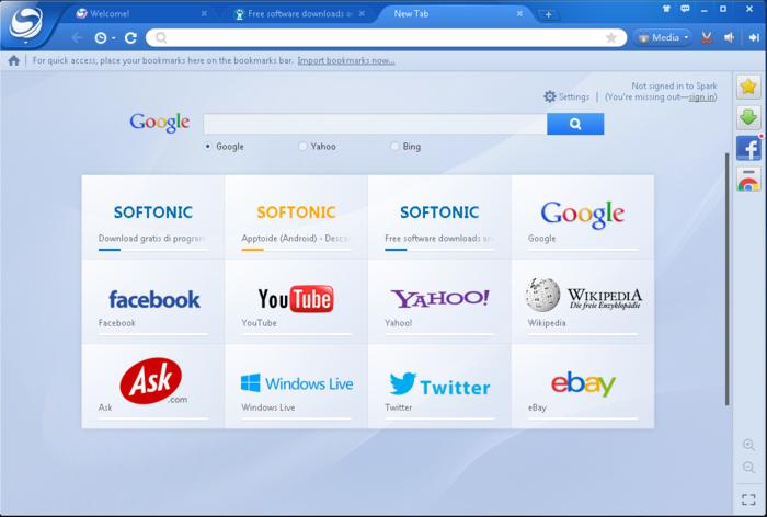 تحميل متصفح سبارك 2015 اسرع متصفح خفيف جدا download spark browser