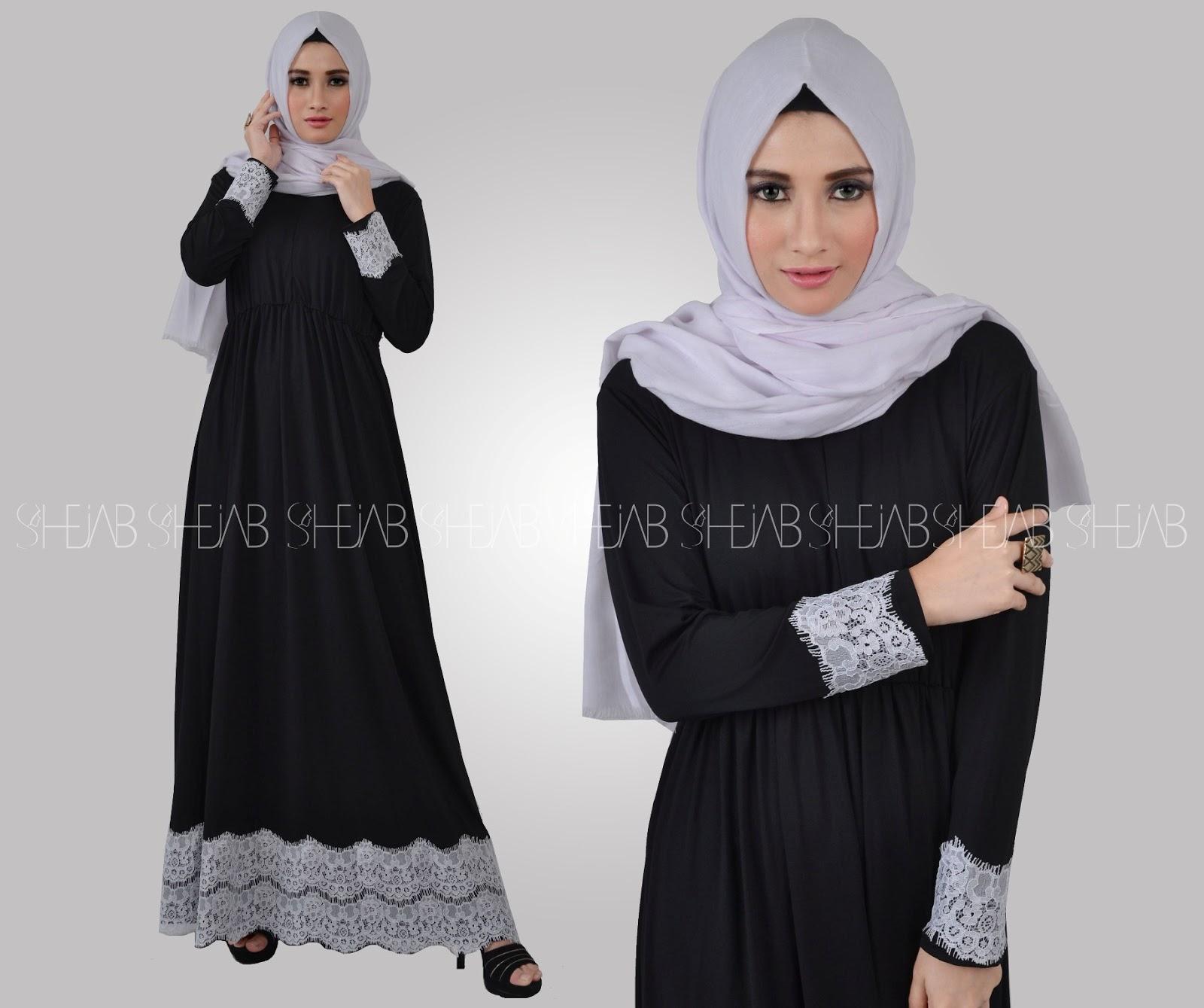 Butik Baju Muslim Modern line Busana Wanita Kalila Dress Shejab
