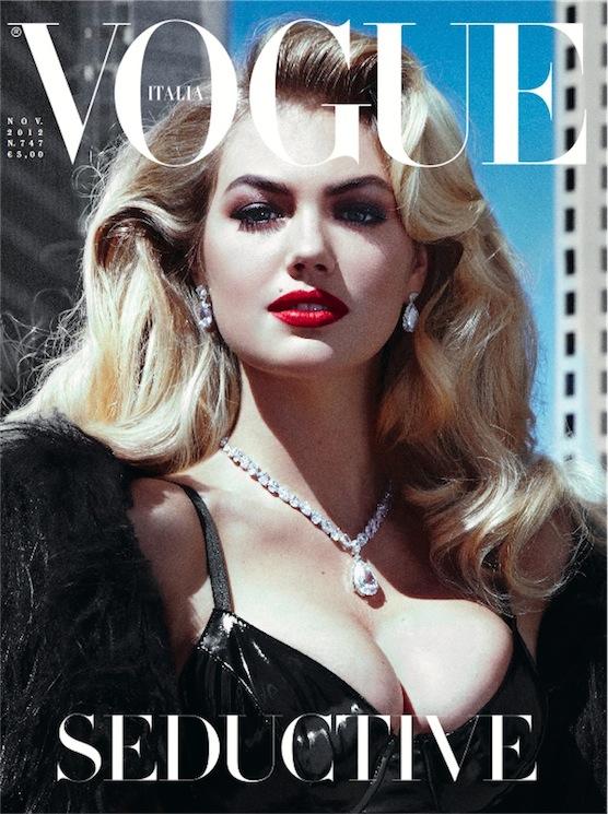 Kate Upton covers Vogue Italia November 2012