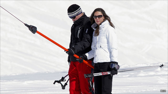 william and kate skiing photo. william and kate skiing.