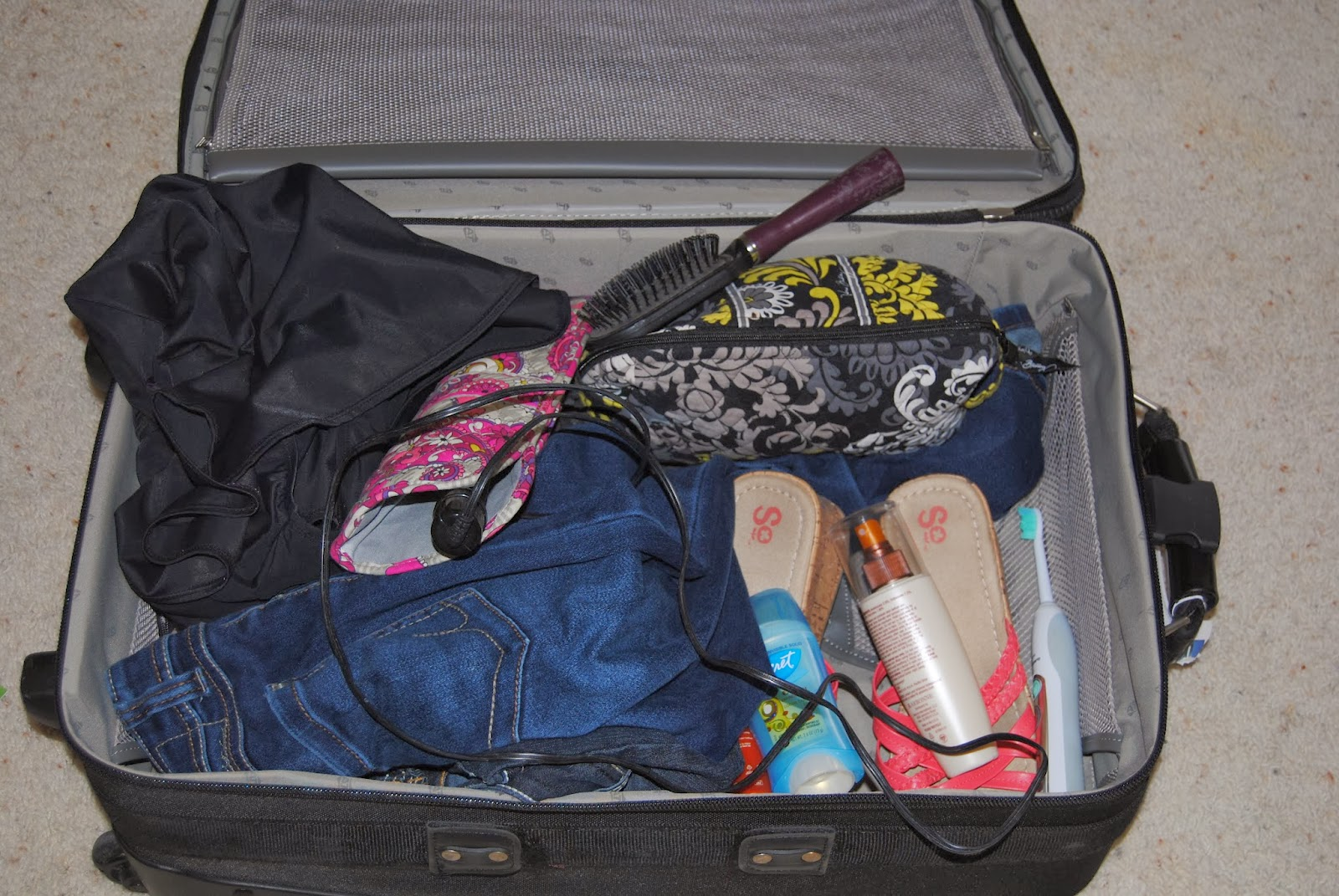 Unorganized Suitcase