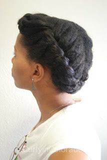 Curly Updo Natural Hair