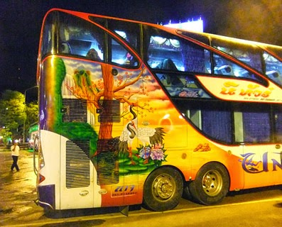 Thailand Bus with artwork