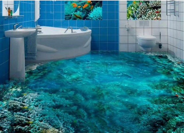 3D floor designs for 3D bathroom floors prices