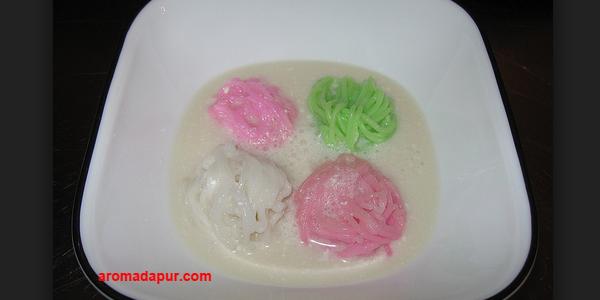 Kue Basah, Kue tradisional, Resep Putu Mayang Kuah Santan, Resep Kue Enak, membuat kue putu mayang