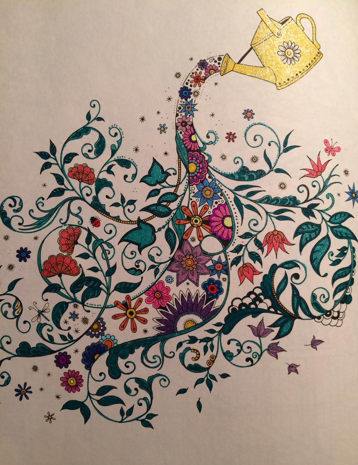 a work in progress - My Secret Garden Coloring Book