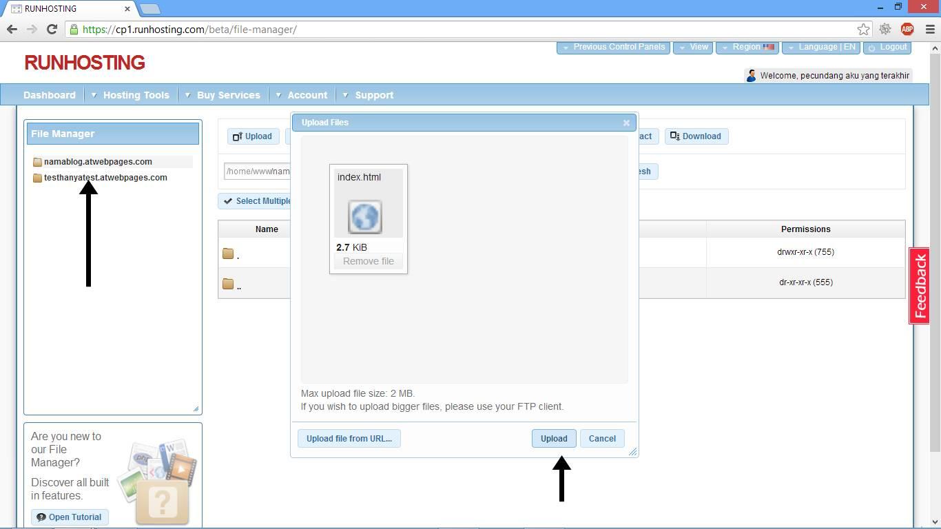 Cara Upload File ke Website Gambar 2