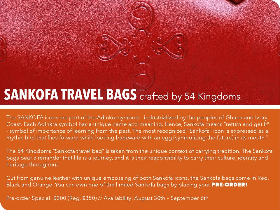Ghana Rising Objects Of Desire 54 Kingdoms Sankofa Leather Travel