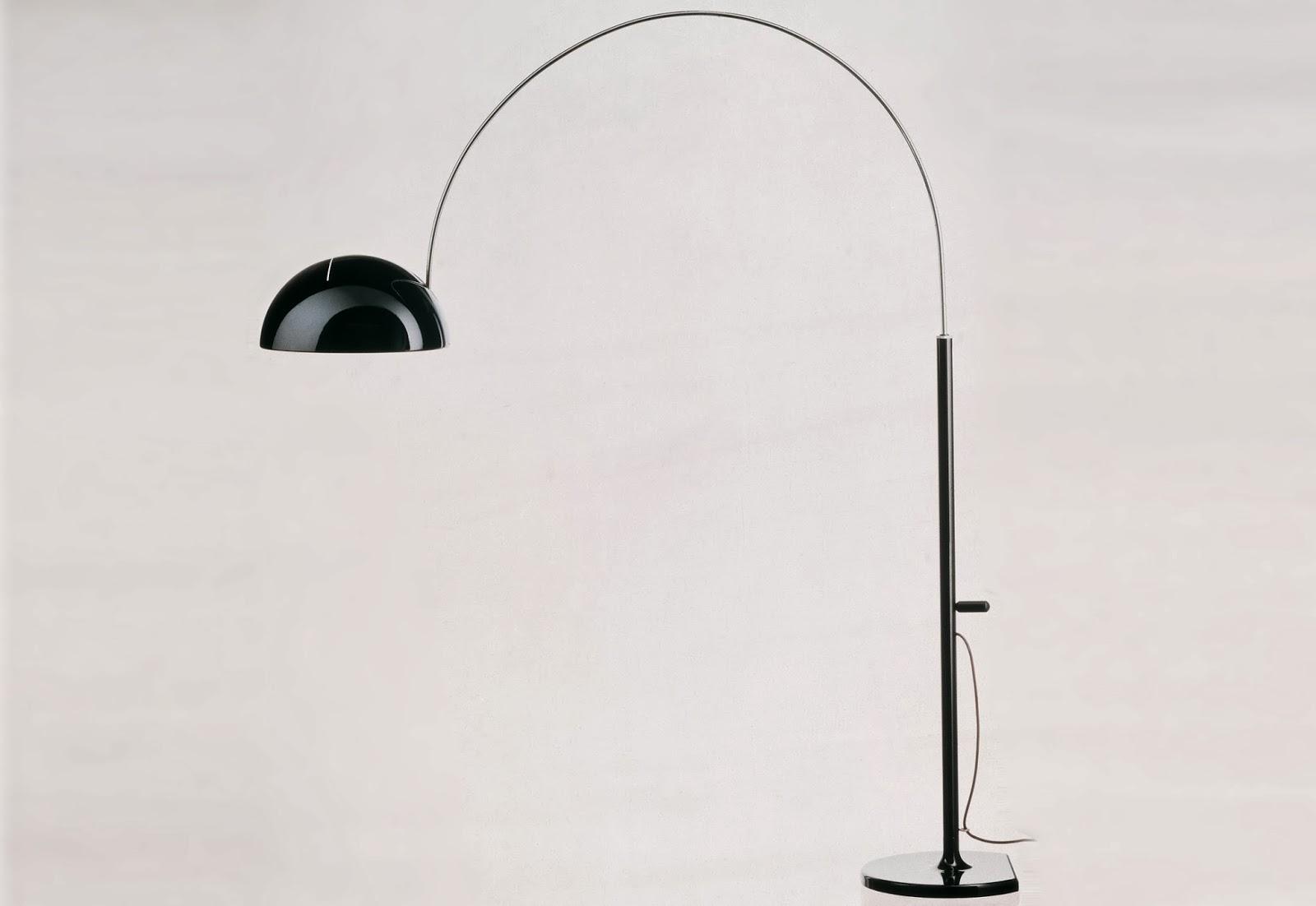 Arredo per voi lampada ad arco girevole regolabile in altezza