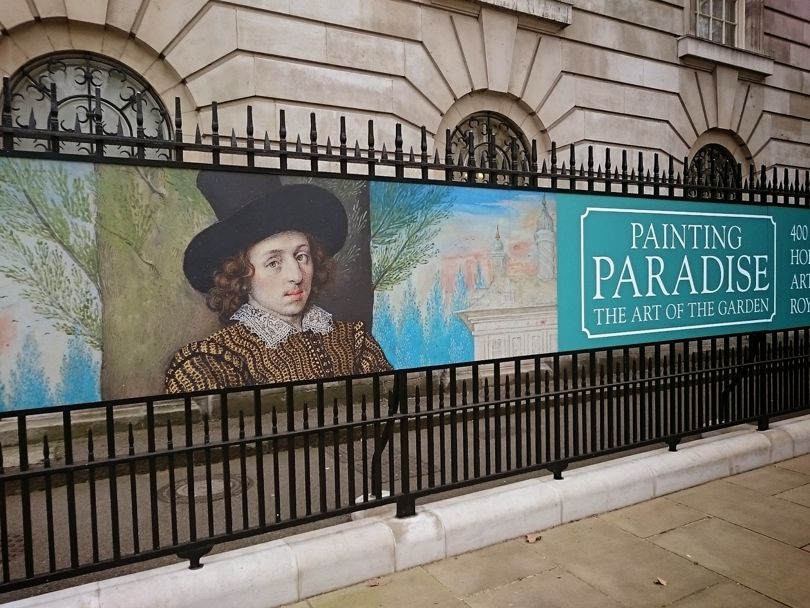 Exhibition poster outside the Queen's Gallery