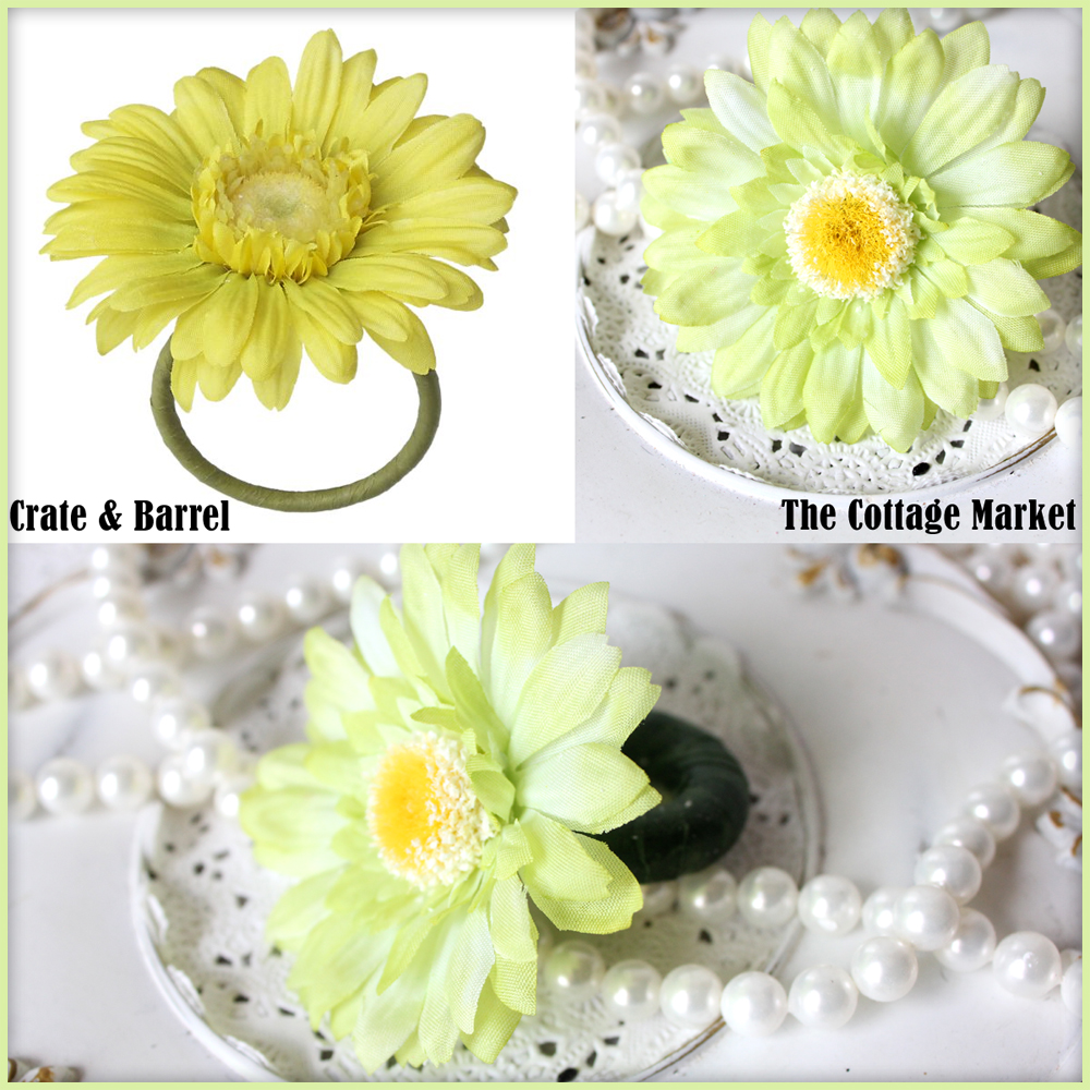 Crate And Barrel Knock Off Daisy Napkin Rings The Cottage Market