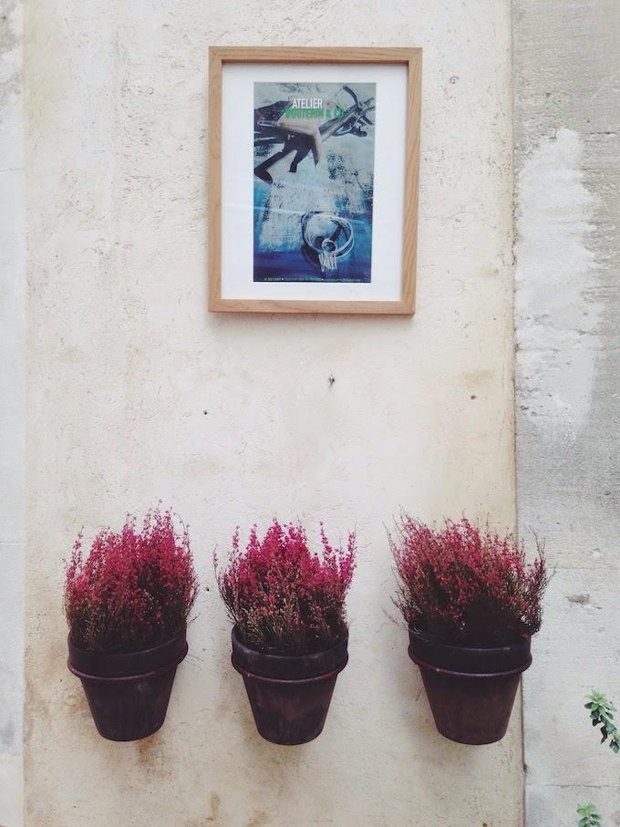 decoración con brezo