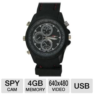 Night Owl CS WATCH 4GB Covert Video Watch Camera – 640 x 480 Video, USB