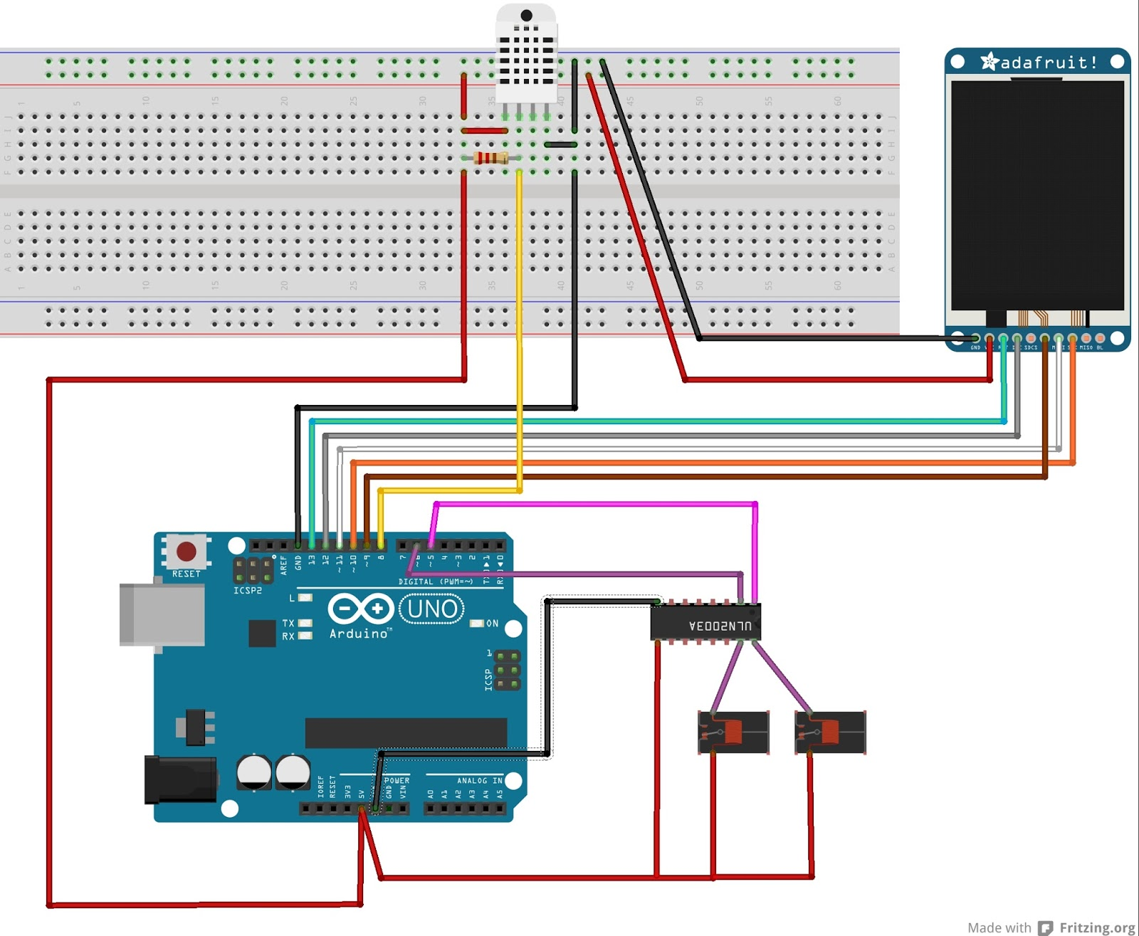 arduino cr ations regulateur d 39 humidit et de temperature avec un dht22. Black Bedroom Furniture Sets. Home Design Ideas