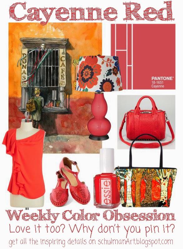 pantones cayenne red