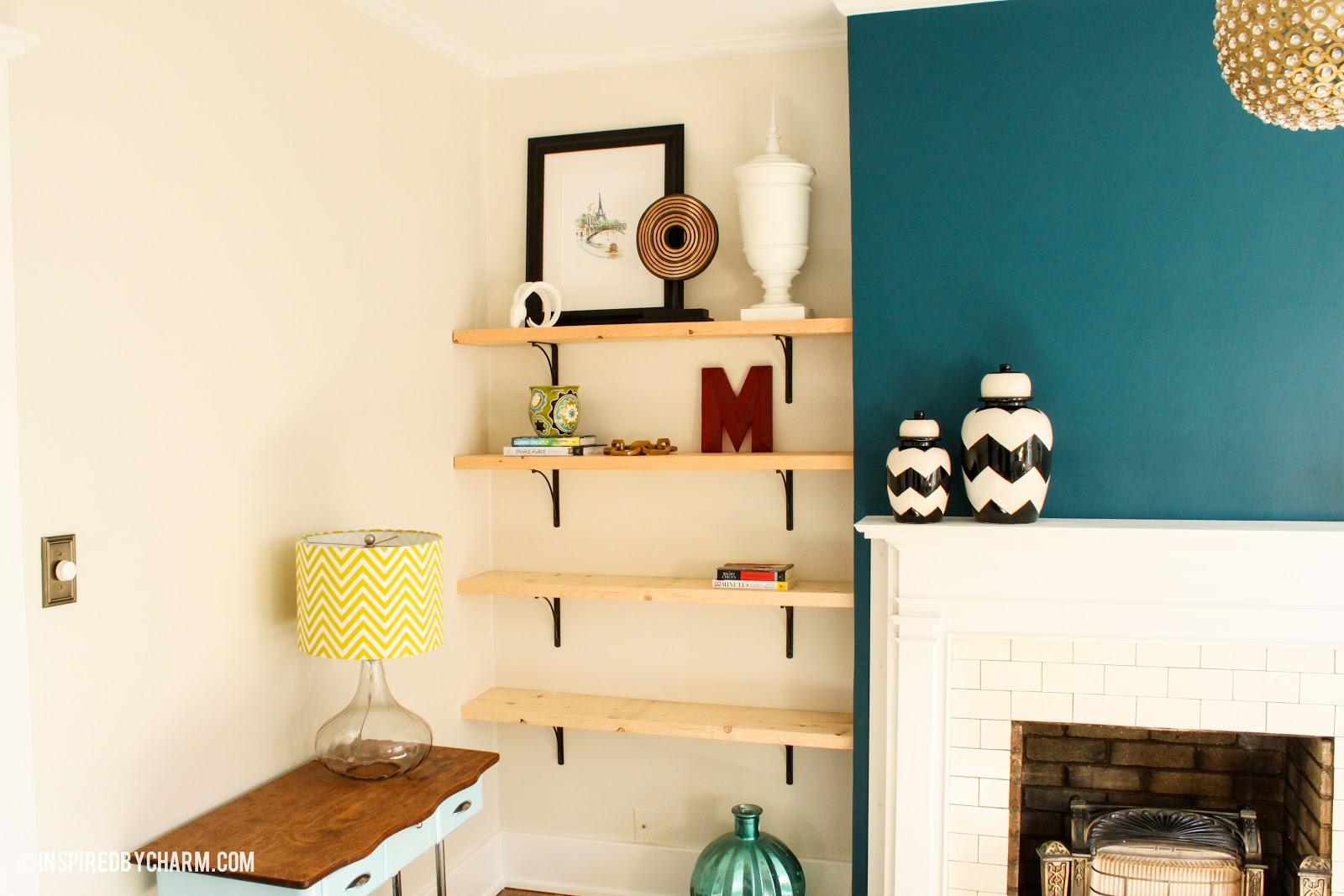 Shelves, Cat Yoga, and Tchotchkes