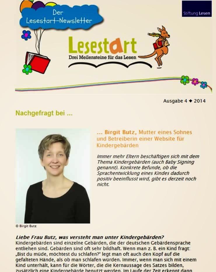 Lesestart Interview Kindergebärden (Babyzeichen)