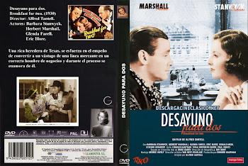 Carátula dvd: Desayuno para dos (1937) (Breakfast for Two)