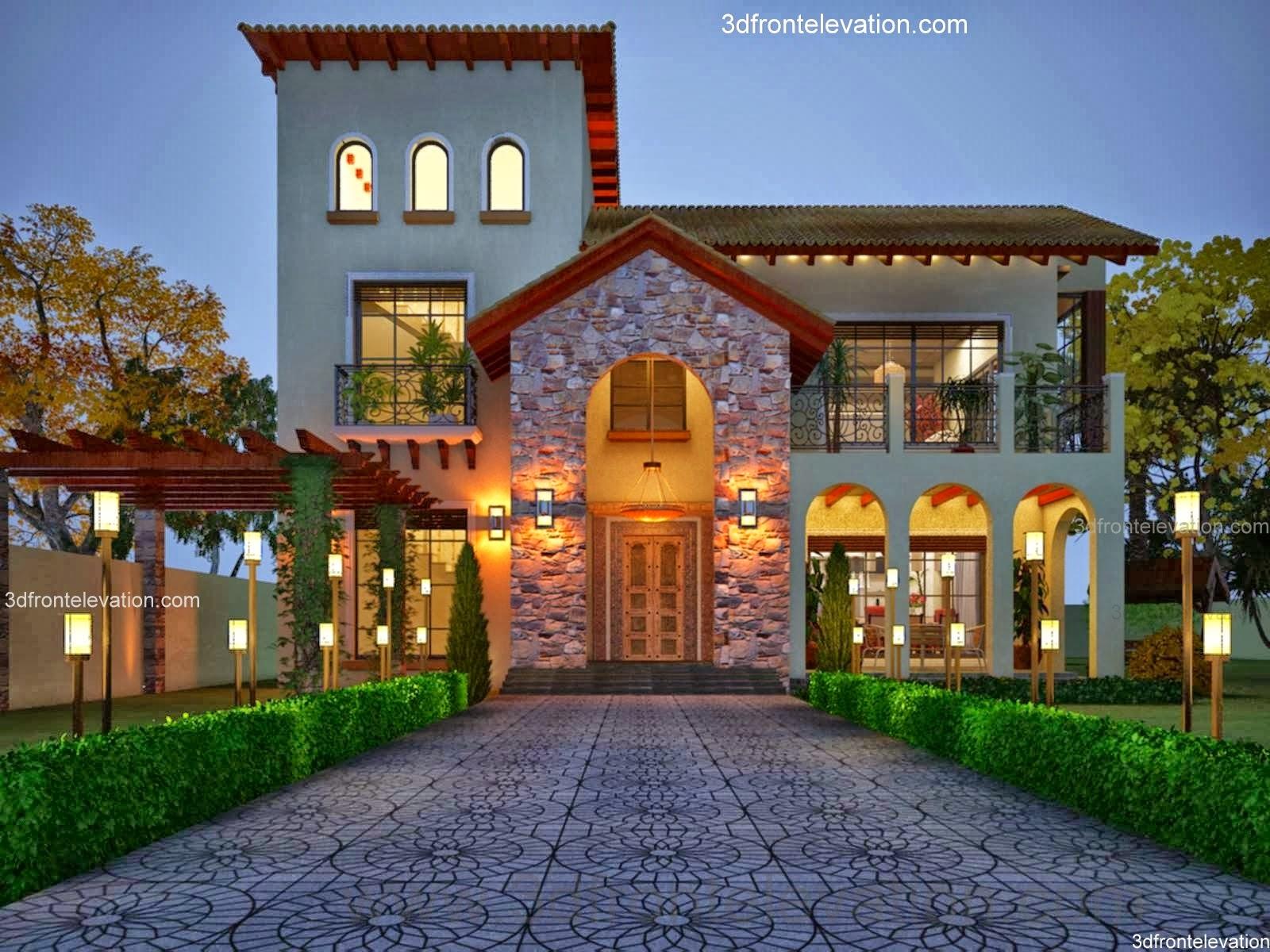 3D Front Elevationcom pakistani home design pictures