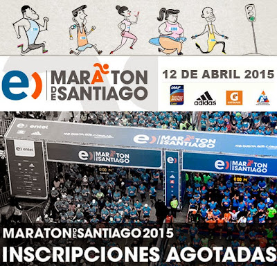 Maratón de Santiago (Chile, 12/abr/2015)