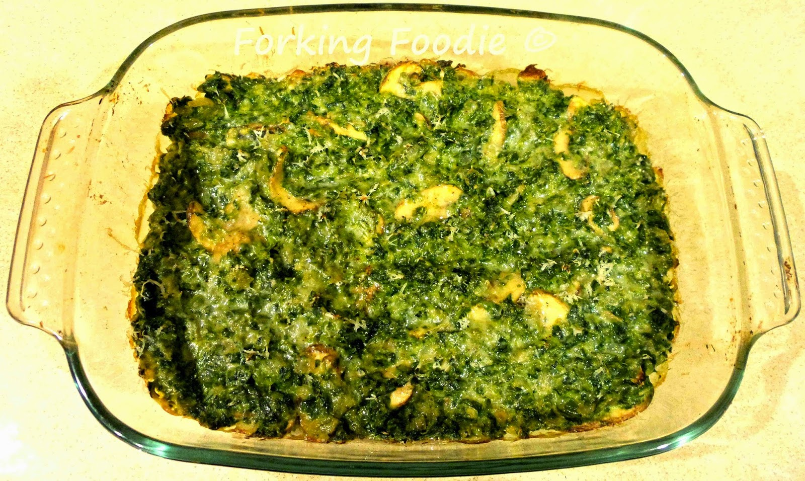 Spinach and Mushroom Gratin recipe
