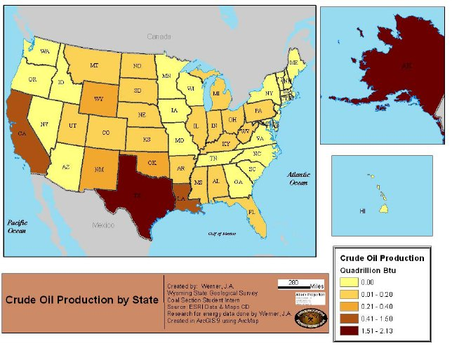 This Map Shows Where Petroleum Is Produced Today Obviously Texas And Alaska Stand Out Coal And Natural Gas Are On This Site