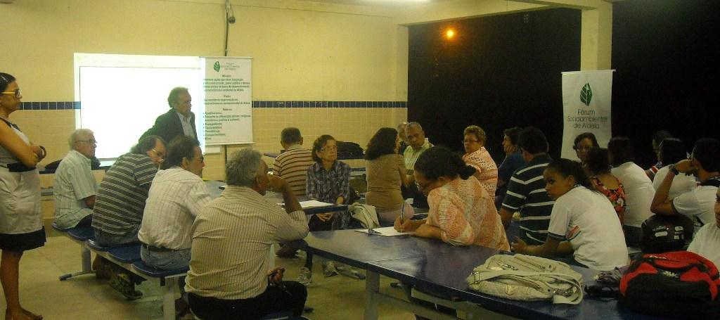 Torquato De fórum socioambiental de aldeia reunião do fórum na escola torquato