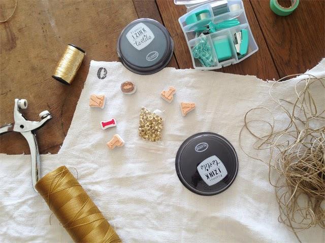 Tampons encreurs textile DIY