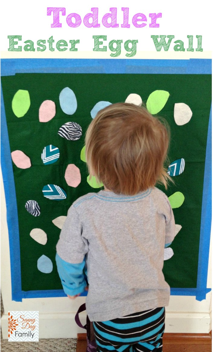 Make an Easter Egg Wall: Spring Activity for Toddlers