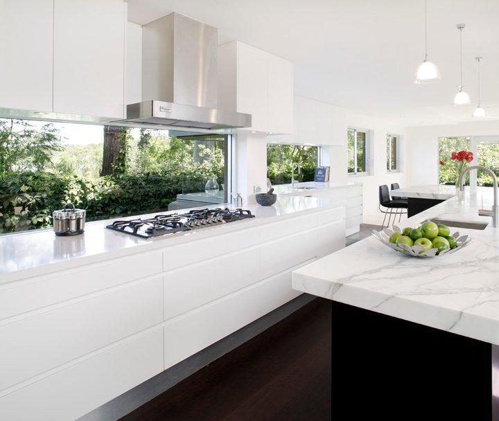cocina con marmol blanco - Marmol Cocina