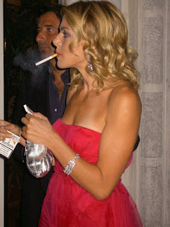 Claudia Gerini Smoking Cigarettes