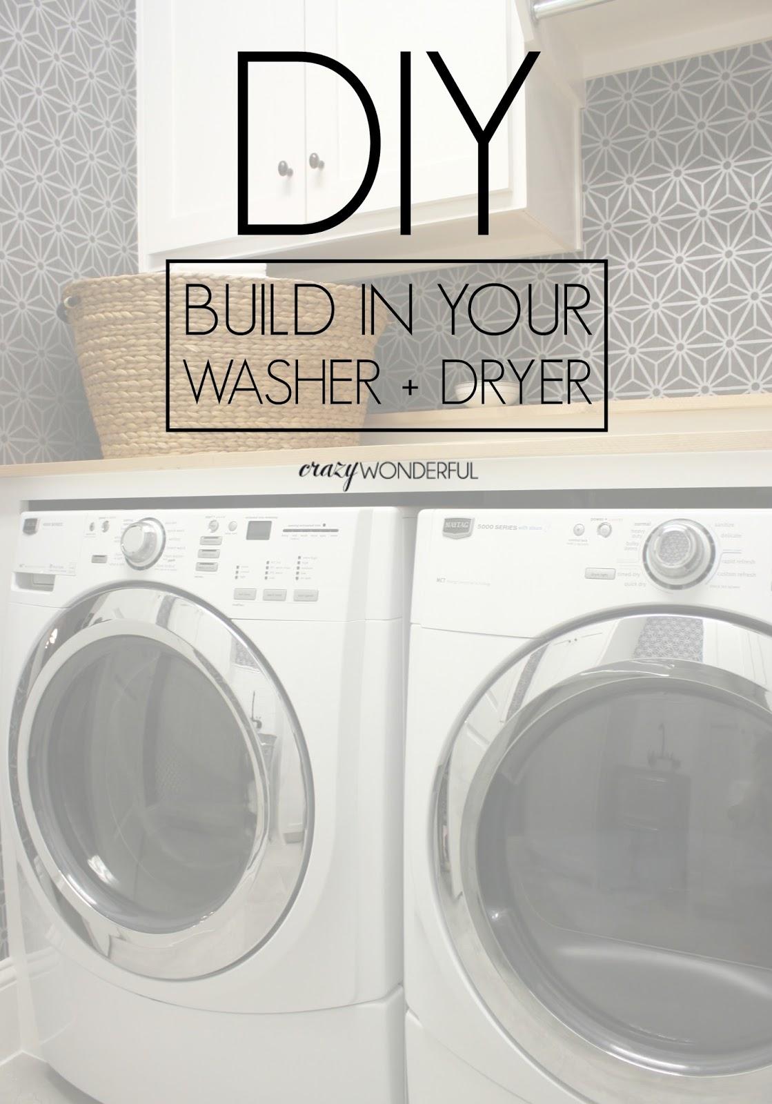 DIY Built In Washer + Dryer